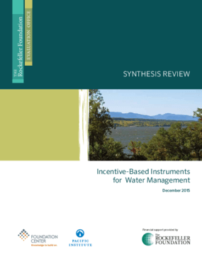 Incentive-Based Instruments for Water Management