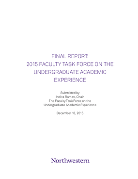 Final Report: 2015 Faculty Task Force on the Undergraduate Academic Experience
