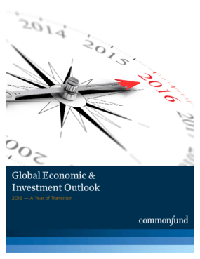 Global Economic and Investment Outlook: 2016, A Year of Transition