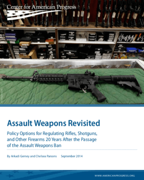 Assault Weapons Revisited: Policy Options for Regulating Rifles, Shotguns, and Other Firearms 20 Years After the Passage of the Assault Weapons Ban