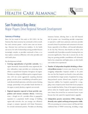 San Francisco Bay Area: Major Players Drive Regional Network Development