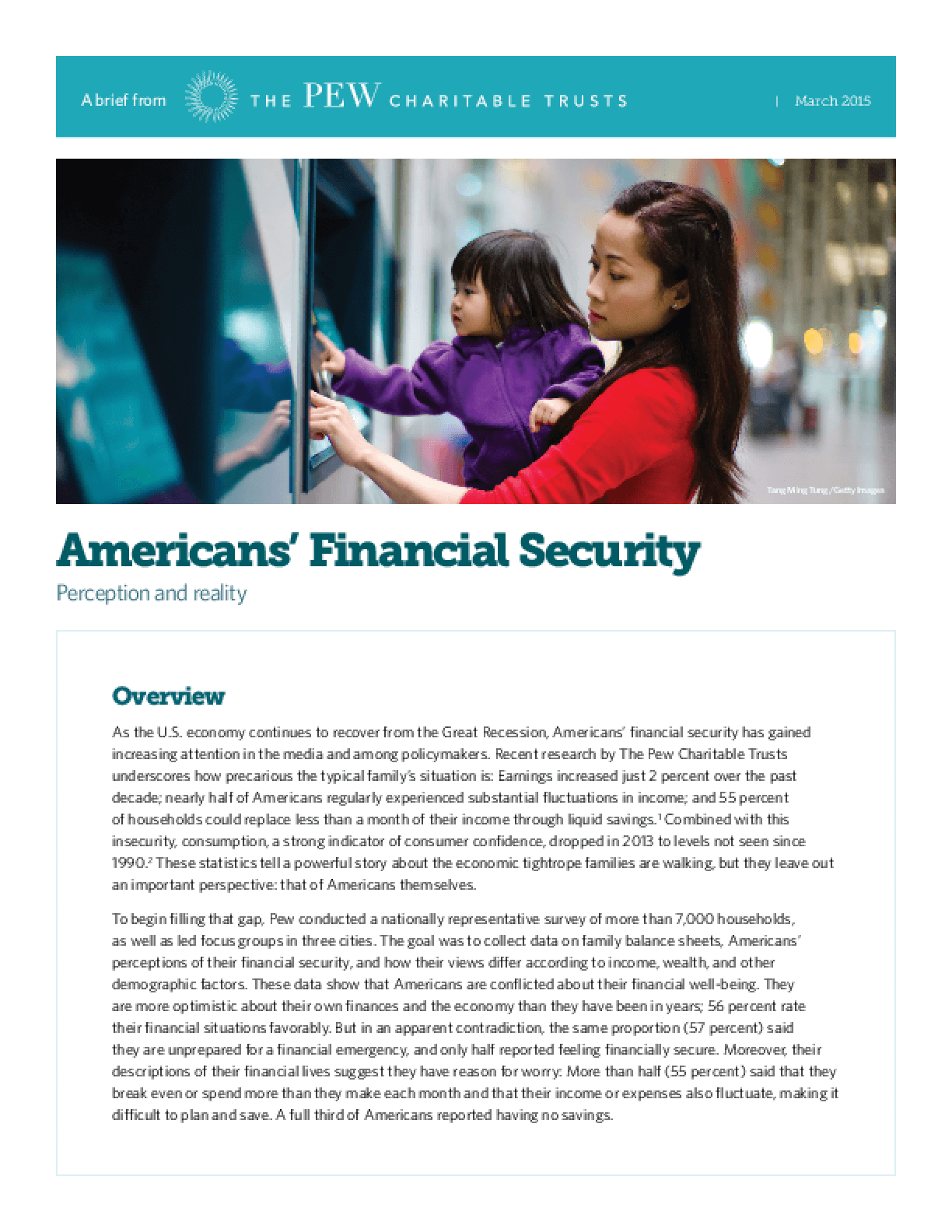 Americans' Financial Security: Perception and Reality