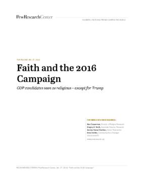 Faith and the 2016 Campaign: Gop Candidates Seen as Religious - Except for Trump