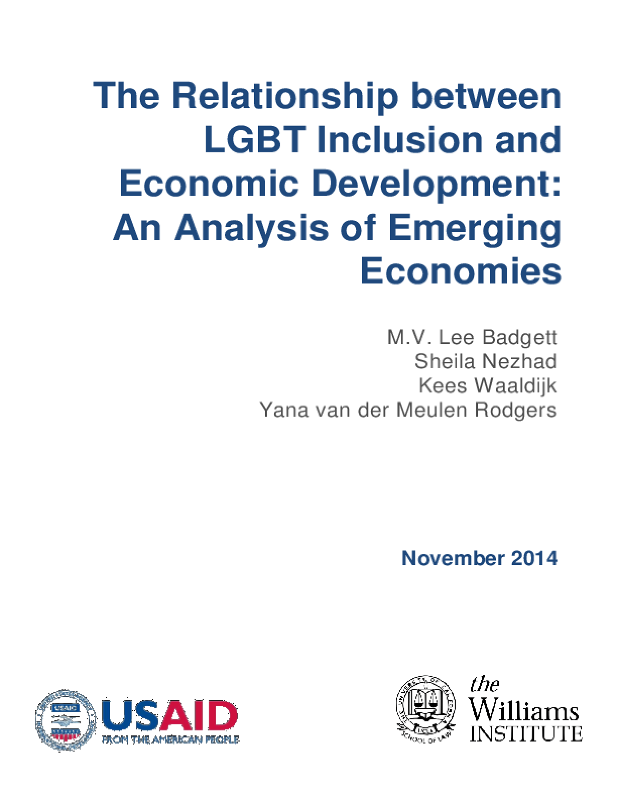 The Relationship Between LGBT Inclusion and Economic Development: An Analysis of Emerging Economies