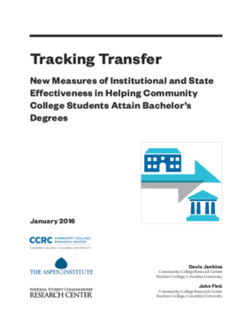 Tracking Transfer: New Measures of Institutional and State Effectiveness in Helping Community College Students Attain Bachelor's Degrees