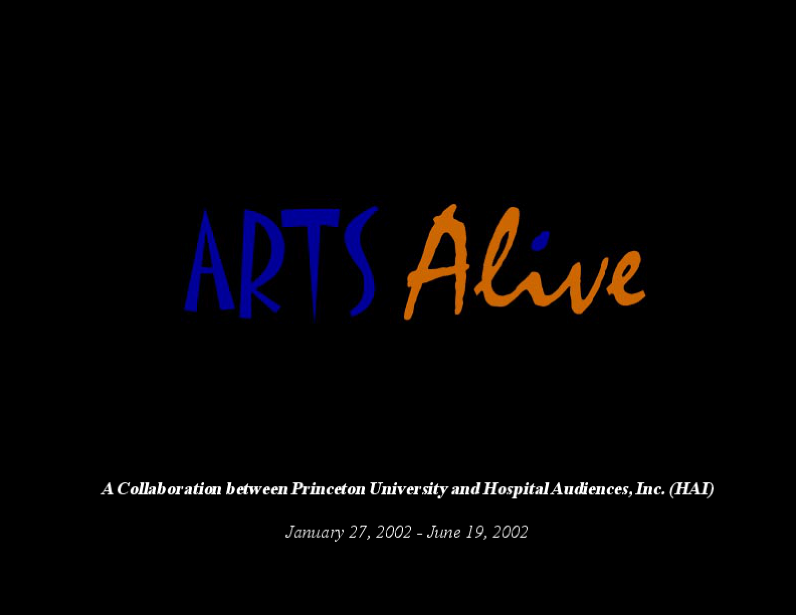 Arts Alive!: 2001-2002 Project Report