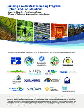 Building a Water Quality Trading Program: Options and Considerations