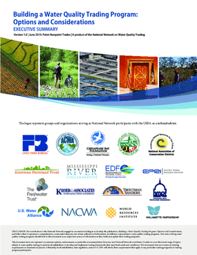 Building a Water Quality Trading Program: Options and Considerations, Executive Summary