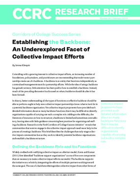 Establishing the Backbone: An Underexplored Facet of Collective Impact Efforts
