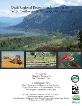 Draft Regional Recommendations for the Pacific Northwest on Water Quality Trading