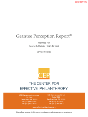 Grantee Perception Report
