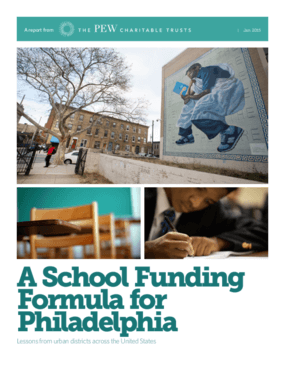 A School Funding Formula for Philadelphia: Lessons from Urban Districts Across the United States