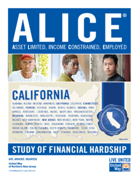 ALICE: Study of Financial Hardship-California