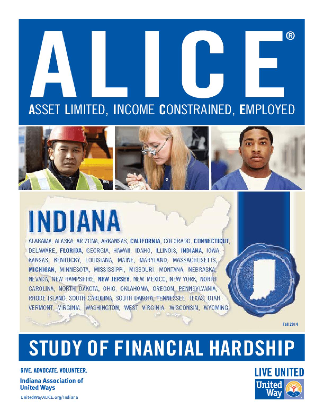 ALICE: Study of Financial Hardship-Indiana