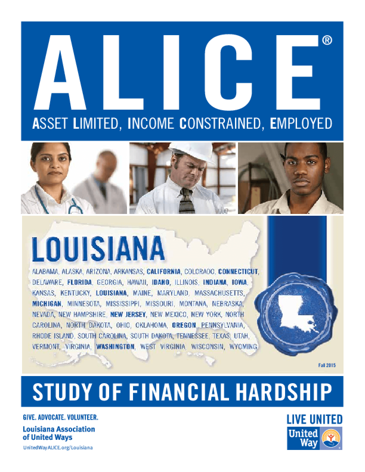 ALICE: Study of Financial Hardship-Louisiana