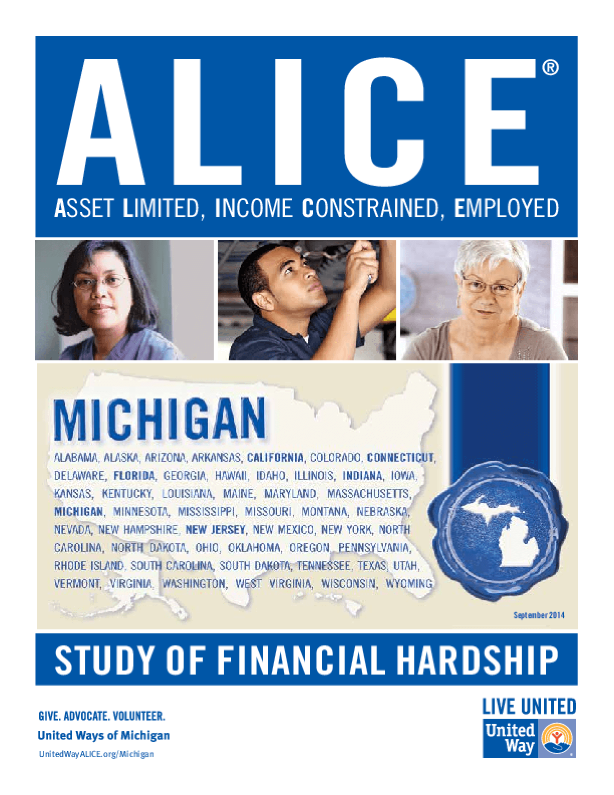 ALICE: Study of Financial Hardship-Michigan
