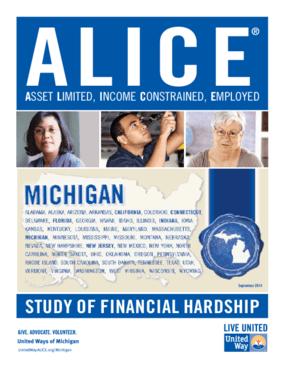 ALICE: Study of Financial Hardship-Michigan