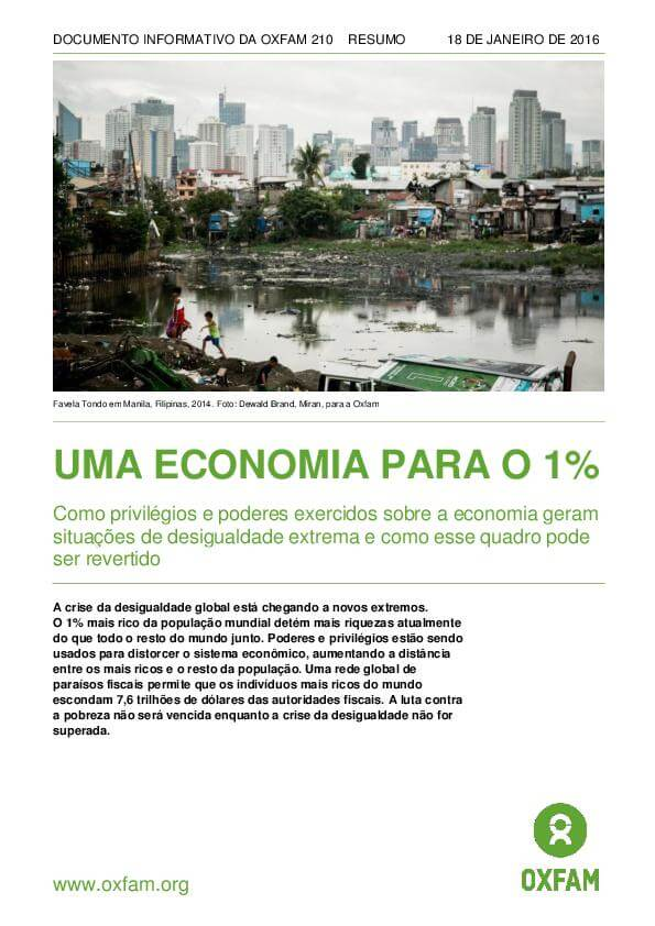 UMA ECONOMIA PARA O 1%