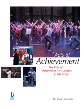Acts of Achievement: The Role of Performing Arts Centers in Education