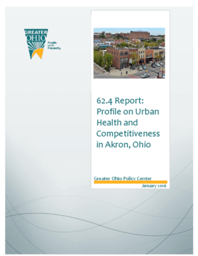 62.4 Report: Profile on Urban Health and Competitiveness in Akron, Ohio