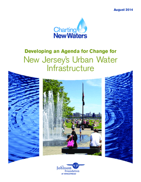 Developing an Agenda for Change for New Jersey's Urban Water Infrastructure