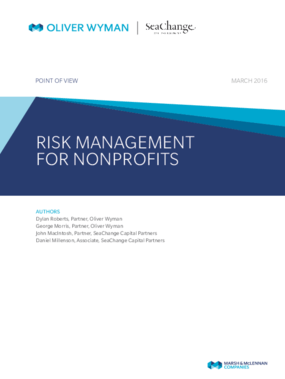 Risk Management for Nonprofits