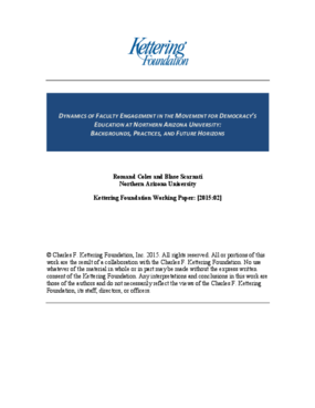 Dynamics of Faculty Engagement in the Movement for Democracy's Education at Nothern Arizona University: Backgrounds, Practices, and Future Horizons