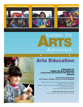 Gaining the Arts Advantage: More Lessons from School Districts that Value Arts Education