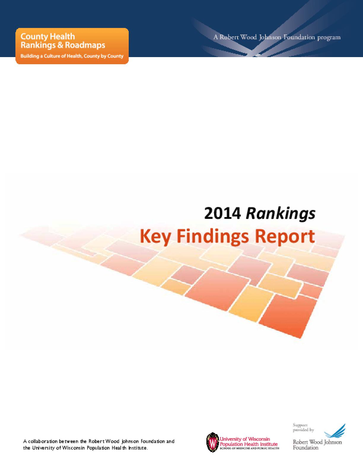 2014 Rankings: Key Findings Report