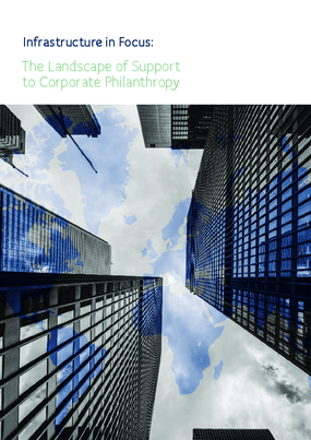 Infrastructure in Focus: The Landscape of Support To Corporate Philanthropy