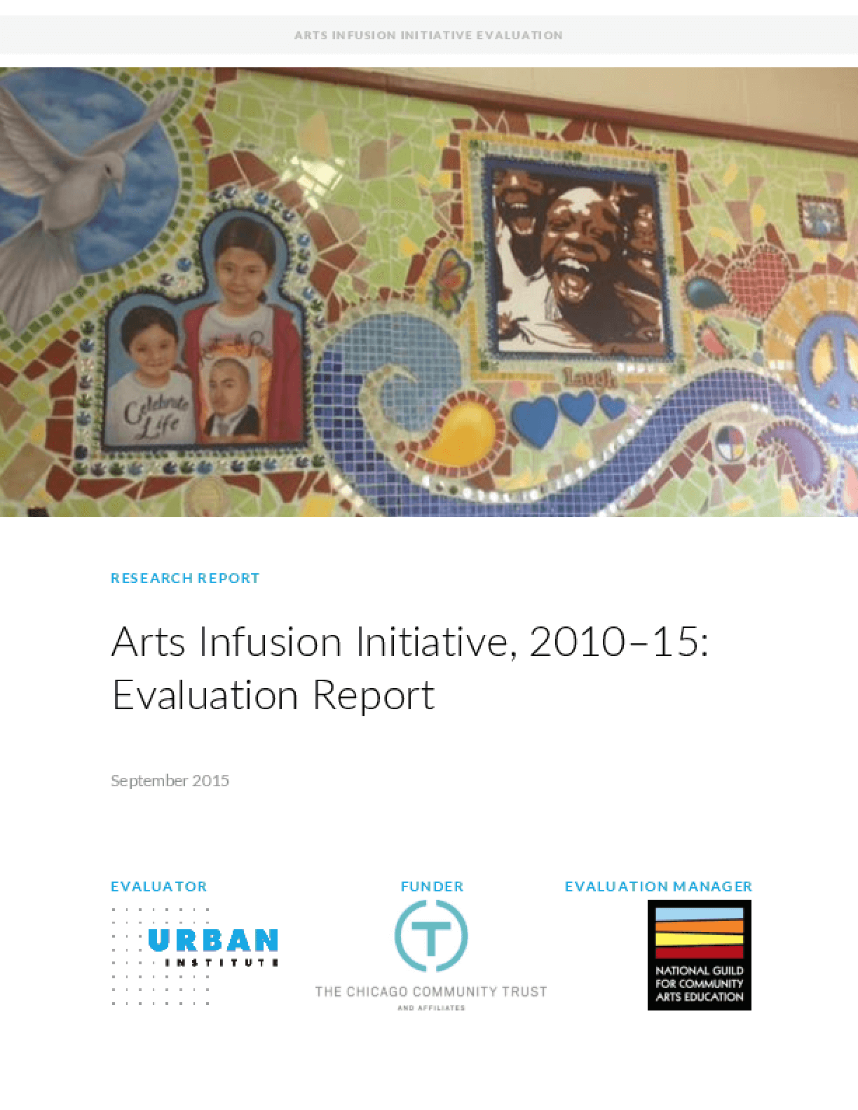 Arts Infusion Initiative, 2010-15: Evaluation Report