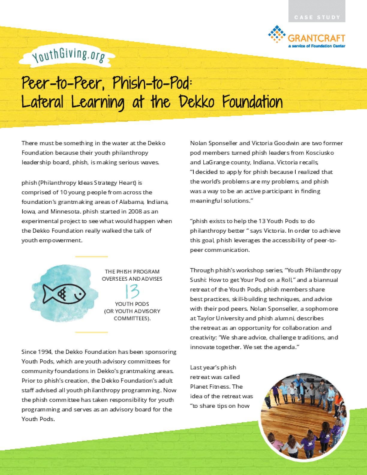 Peer-to-Peer, Phish-to-Pod: Lateral Learning at the Dekko Foundation
