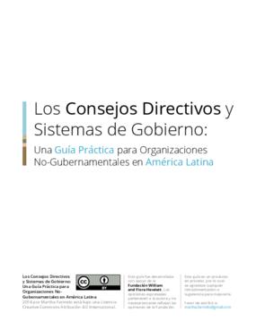 Los Consejos Directivos y sistemas de gobierno: una guía práctica para organizaciones no-gubernamentales en América Latina