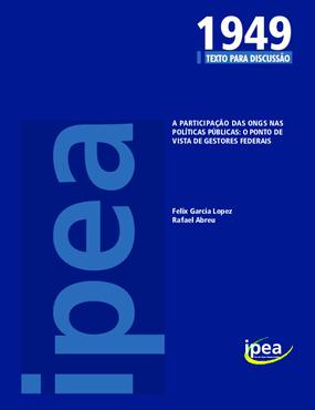 A Participação das ONGs nas Políticas Públicas: o Ponto de Vista de Gestores Federais