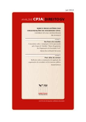 Marco Regulatório das Organizações da Sociedade Civil: Cenário atual e estratégia de avanço