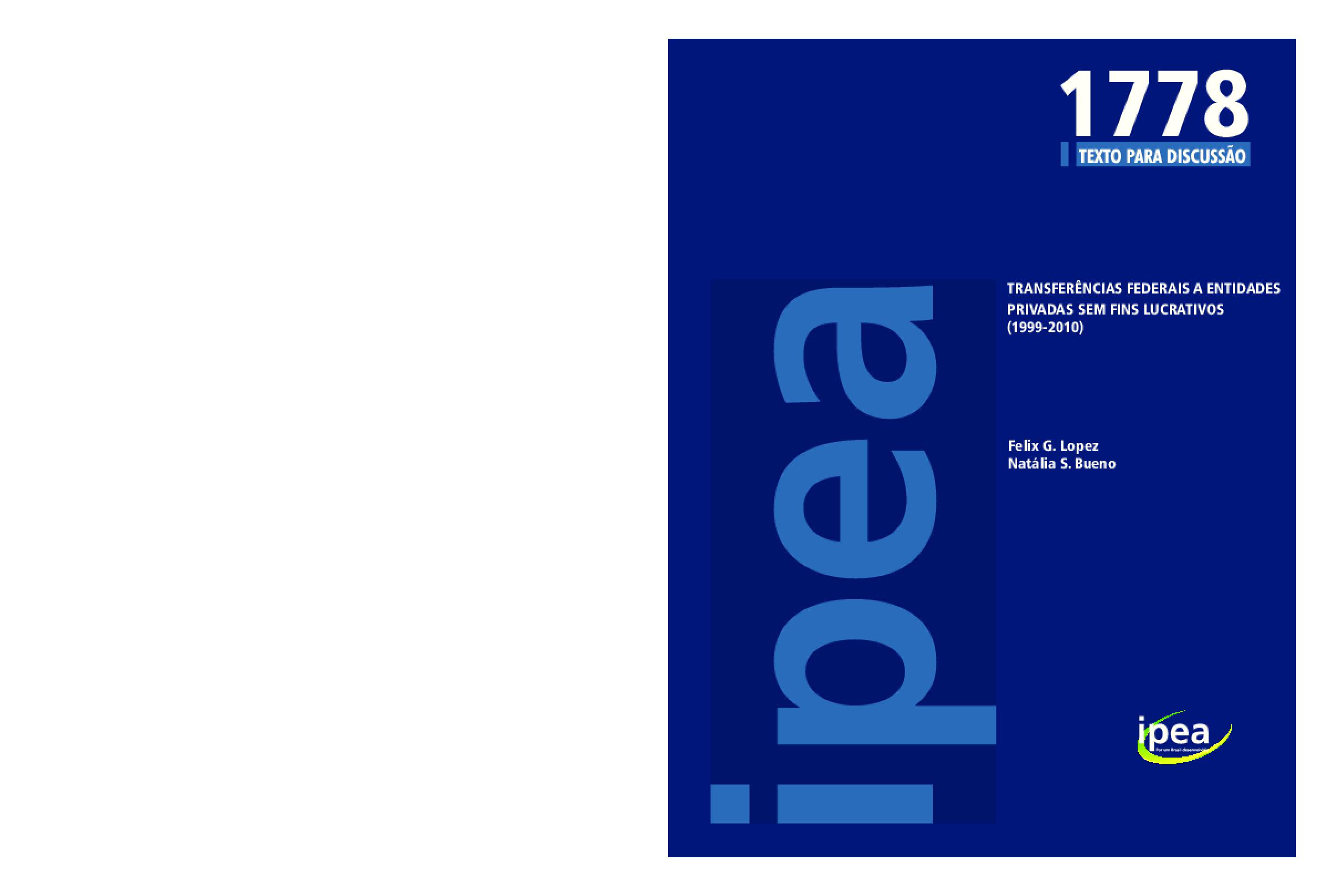 Transferências federais a entidades privadas sem fins lucrativos (1999-2010)