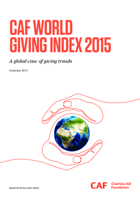 CAF World Giving Index 2015 : A Global View of Giving Trends