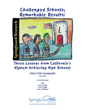 Challenged Schools, Remarkable Results: Three Lessons from California's Highest Achieving High Schools