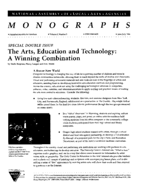 The Arts, Education and Technology: A Winning Combination