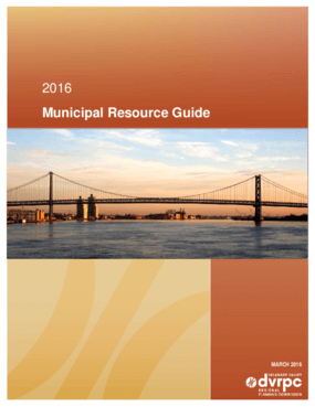 2016 Municipal Resource Guide