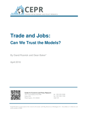 Trade and Jobs: Can We Trust the Models?