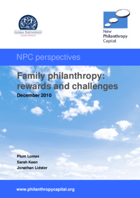 Family philanthropy: rewards and challenges (2010)