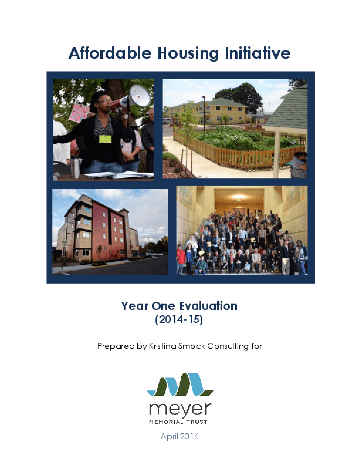 Affordable Houising Initiative: Year One Evaluation (2014-15)