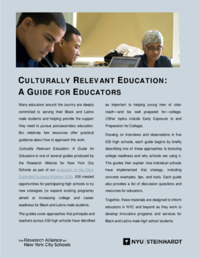Culturally Relevant Education: A Guide for Educators