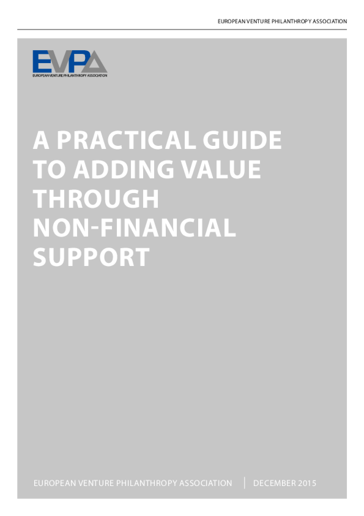 A Practical Guide to Adding Value Through Non-financial Support