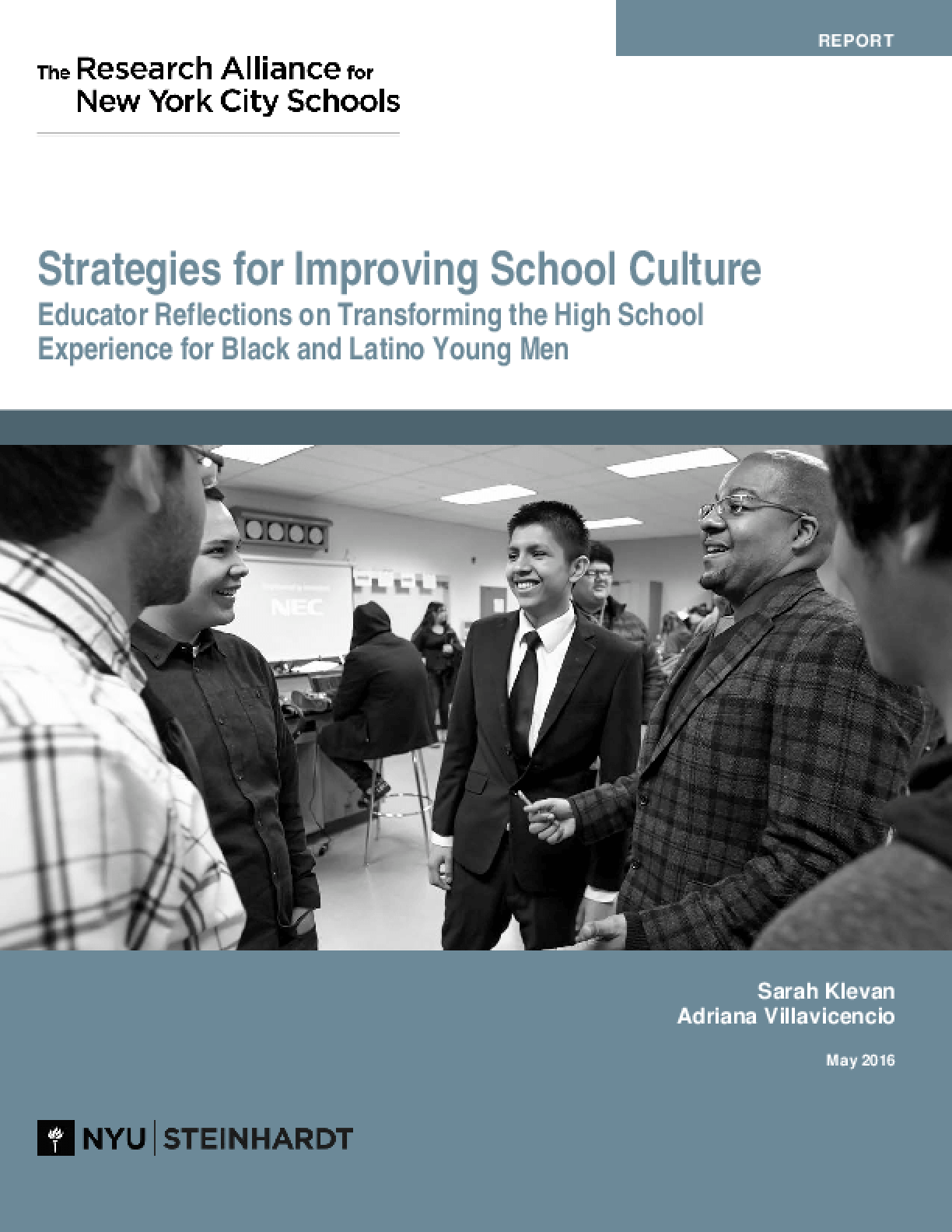 Strategies for Improving School Culture: Educator Reflections on Transforming the High School Experience for Black and Latino Young Men
