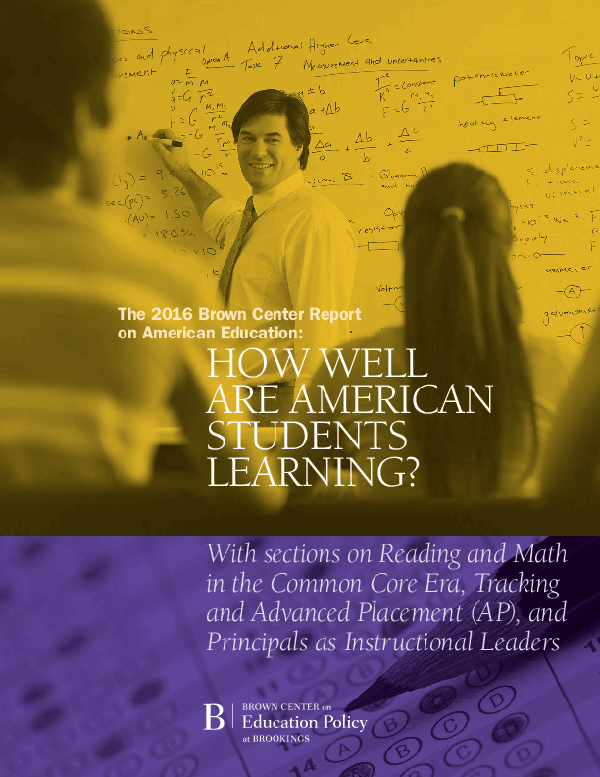 The 2016 Brown Center Report on American Education: How Well Are American Students Learning?