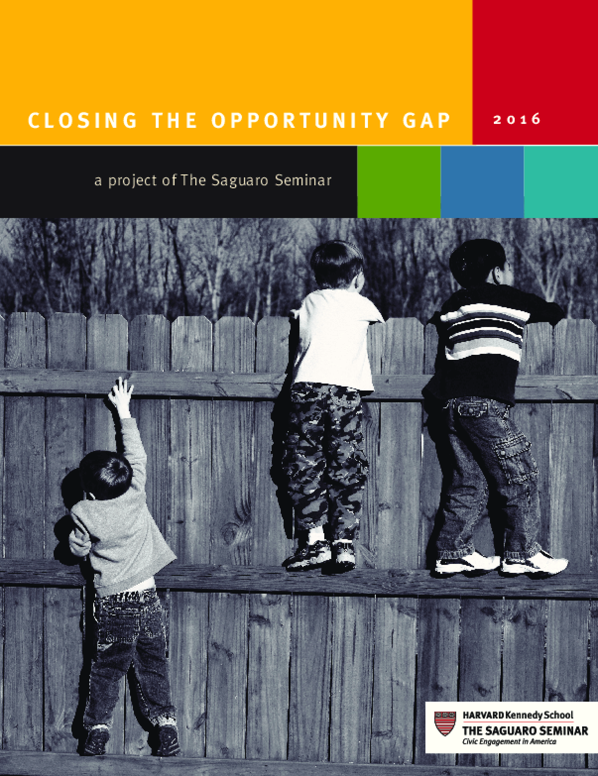 Closing the Opportunity Gap 2016: A Project of The Saguaro Seminar