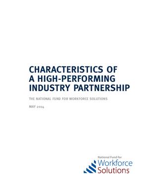 Characteristics of a High-Performing Industry Partnership