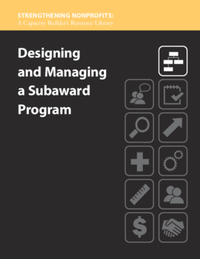 Designing and Managing a Subaward Program